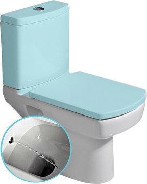 BASIC wc mísa kombi s integrovaným bidetem, spodní/zadní odpad, 35x61cm 71122340