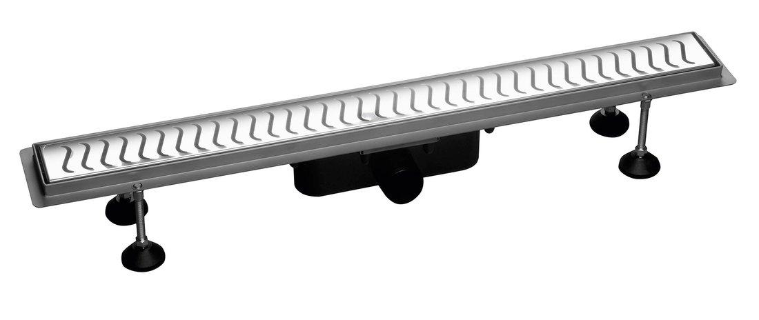 FLUE nerezový sprchový kanálek s roštem, 830x114x82mm 74578