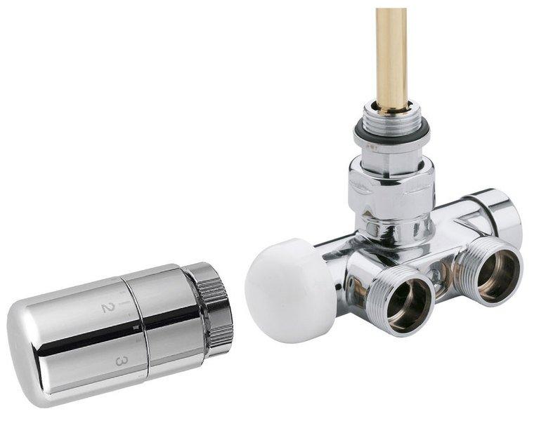 MONO ONE připojovací sada ventilů termostatická jednobodová, broušená nerez CP2550