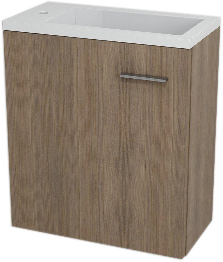 LATUS III umyvadlová skříňka 45x50x23,2cm, Ořech bruno 55548