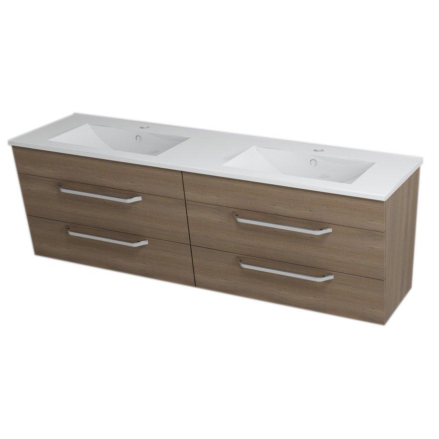 KALI umyvadlová skříňka s umyvadlem 150x50x46 cm ořech bruno 2X560771601-150