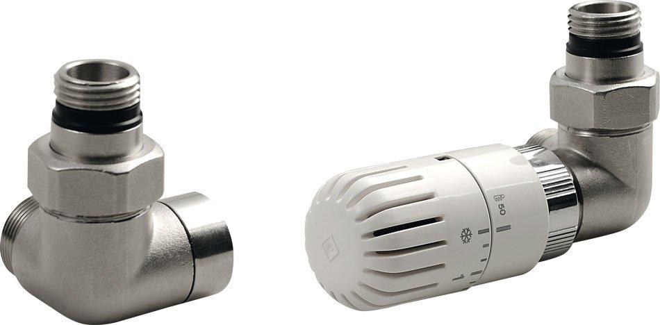 ECO připojovací sada termostatická PRAVÁ, nikl/bílá CP9912R