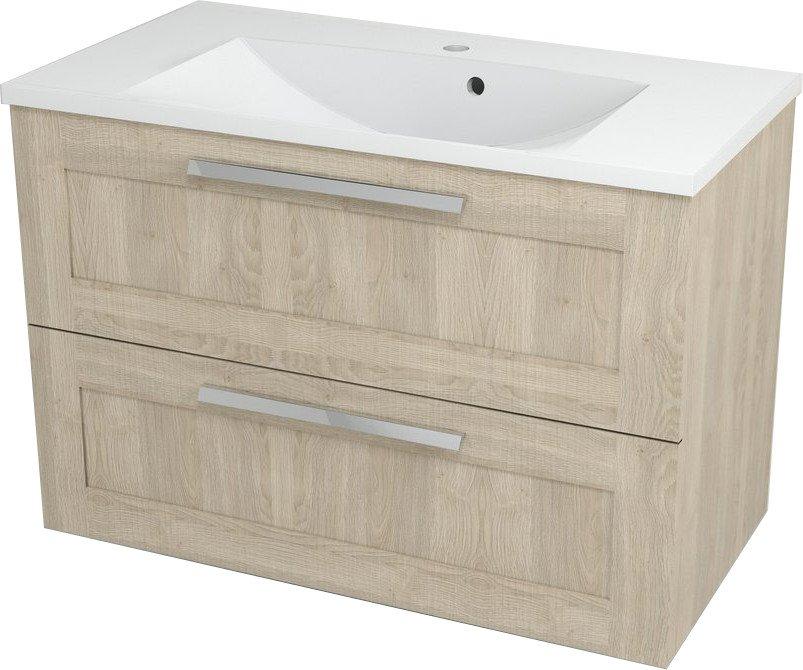AMIA umyvadlová skříňka 89x60x43,5cm, dub šedý AM090