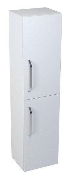KALI vysoká skříňka s košem 35x140x30cm, pravá, bílá 56143P