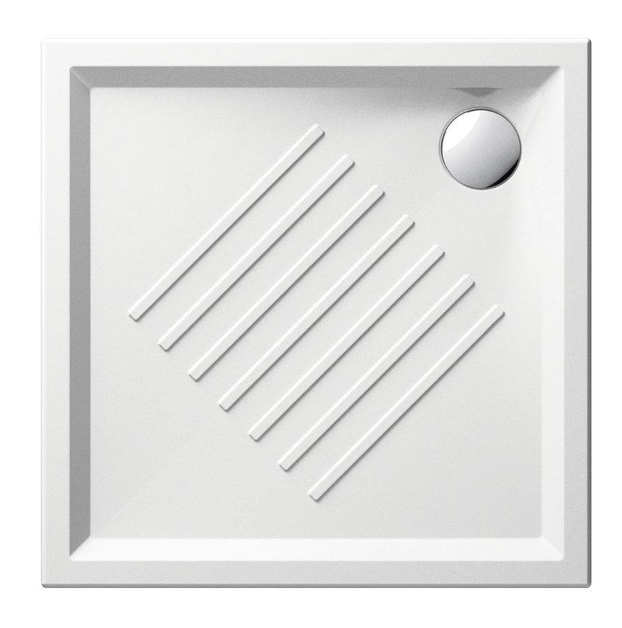 Keramická sprchová vanička, čtverec 80x80x6cm 338611
