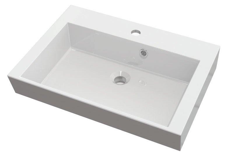 ORINOKO umyvadlo 60x45cm, litý mramor, bílá OR060
