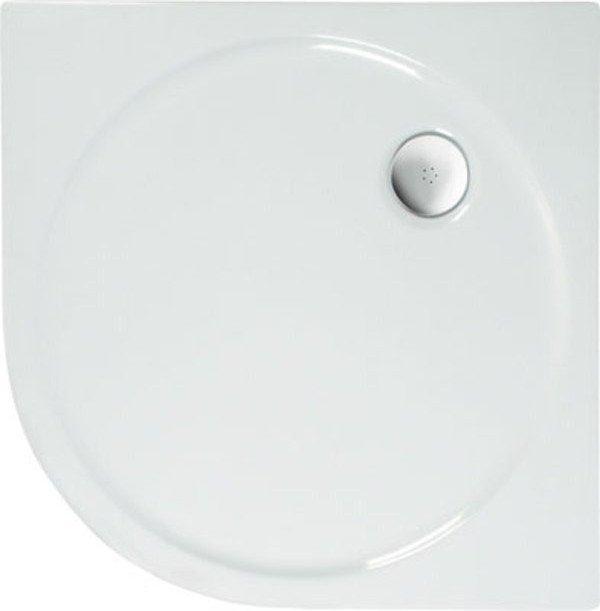SONATA sprchová vanička akrylátová, čtvrtkruh 80x80cm, bílá, R500 56111