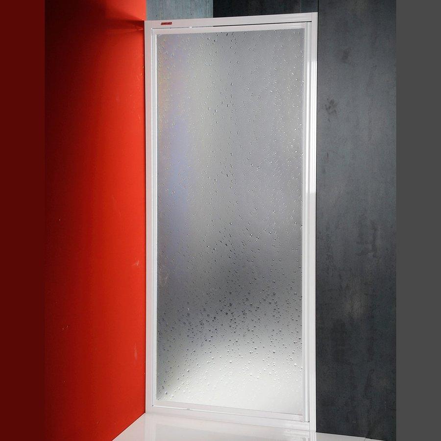 DJ sprchové dveře výkyvné 800mm, bílý profil, polystyren výplň DJ-C-80