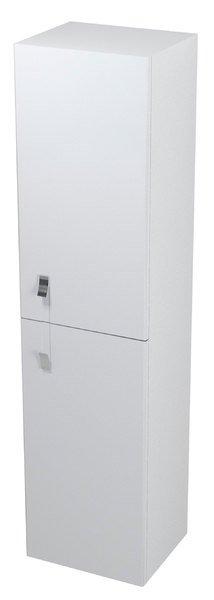 MITRA skříňka vysoká s prádelním košem 35x140x30cm, bílá, pravá MT171