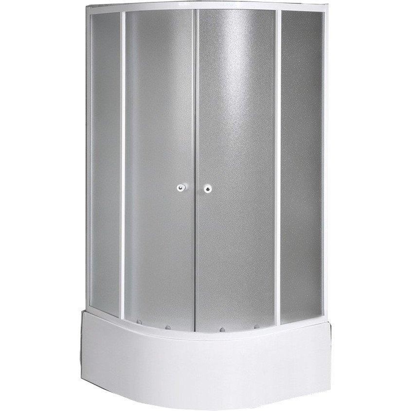 AMICHETTA čtvrtkruhová sprchová zástěna 800x800 mm, nízká, matné sklo E83