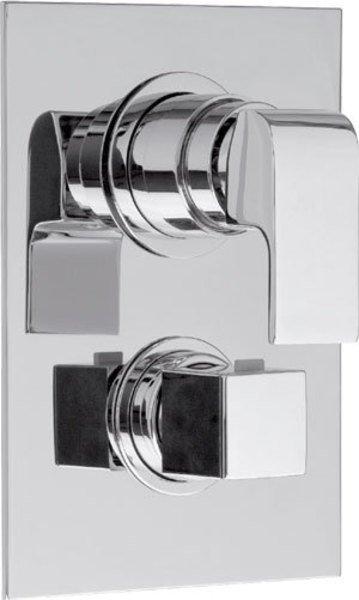 UNA podomítková sprchová termostatická baterie, 3 výstupy, chrom UN57169