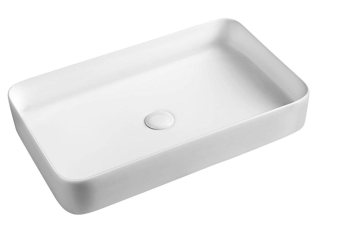 BLADE keramické umyvadlo 65x11x40 cm, na desku, bez přepadu W051701