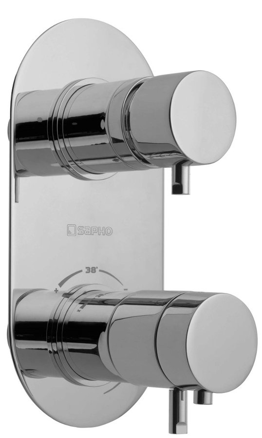 RHAPSODY podomítková sprchová termostatická baterie, 2 výstupy, chrom 5585T