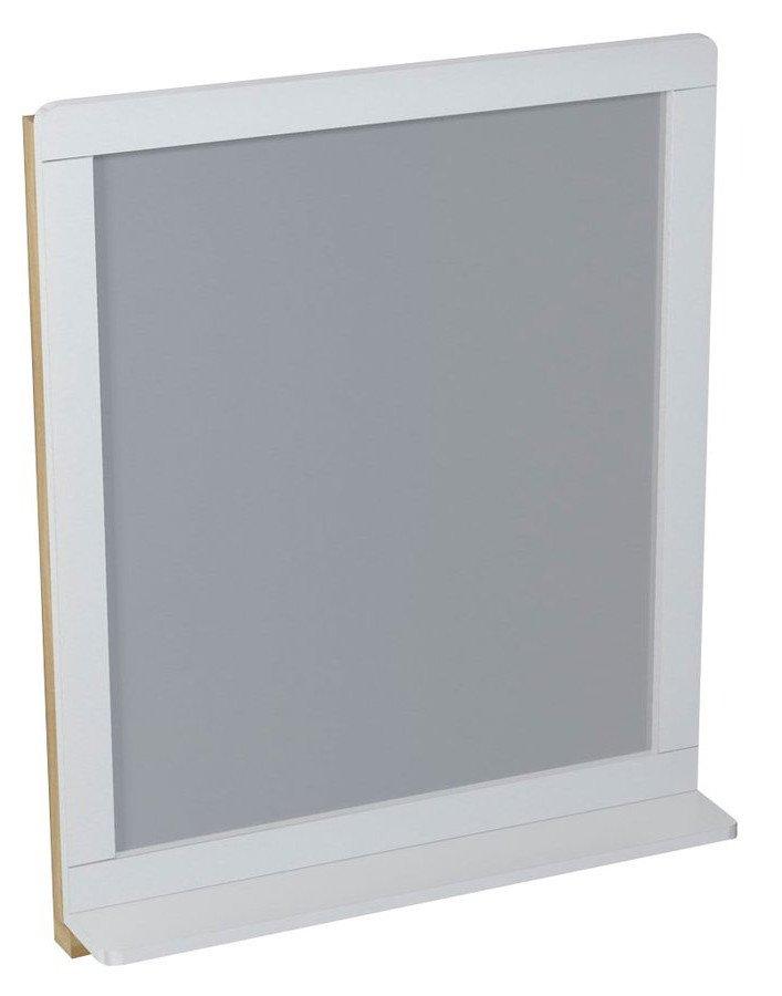 PRIM zrcadlo s policí 70x84x14cm, cedr/bílá PM001