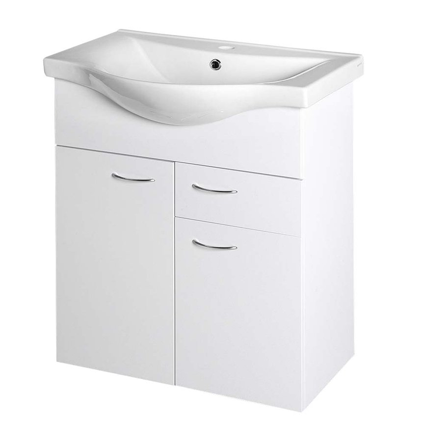 KERAMIA FRESH umyvadlová skříňka, 1 zásuvka, 60,6x74x33,7cm, bílá 50064