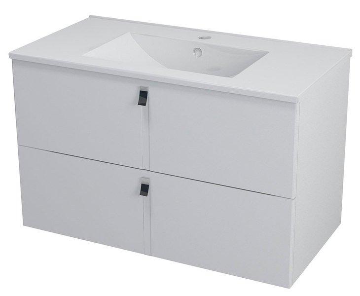 MITRA umyvadlová skříňka 89,5x55x45,2 cm, bílá MT091