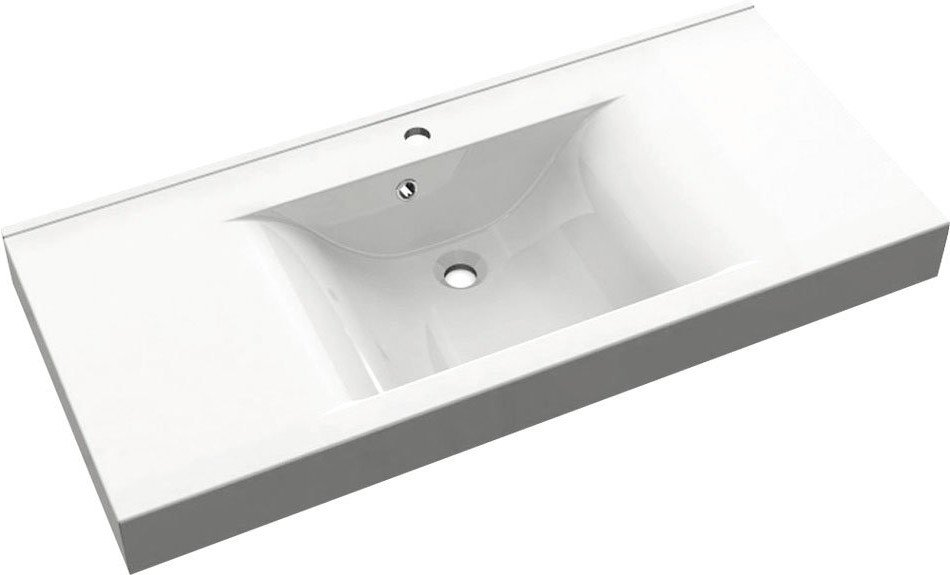 FLAVIA umyvadlo 110x50cm, litý mramor, bílá 68101