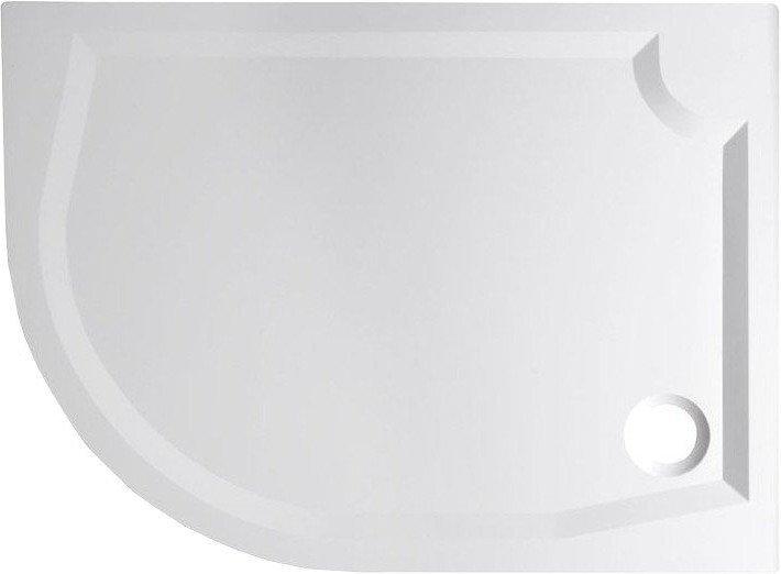 RIVA sprchová vanička z litého mramoru, čtvrtkruh 100x80cm, pravá GR10080R