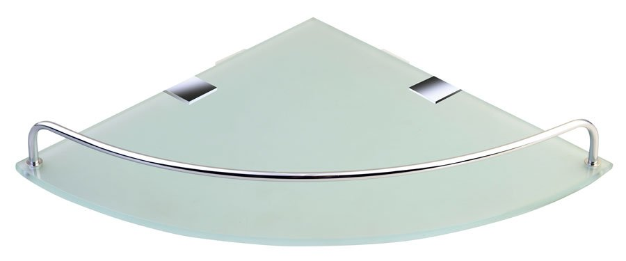 RUMBA skleněná police 250x42x250 mm, čiré sklo RB115