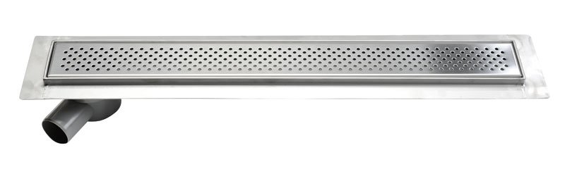 KROKUS nerezový odtokový žlab s roštem, vč. sifonu, 760x140 mm 2705-80