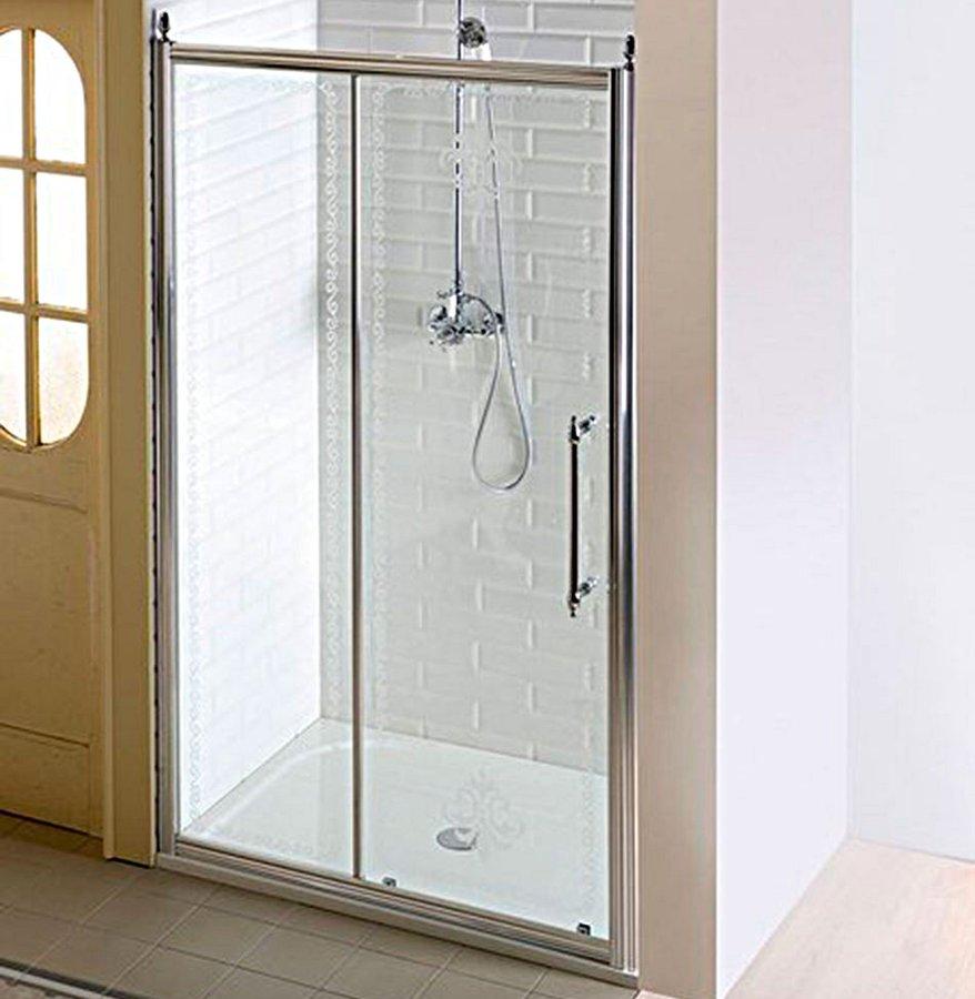 ANTIQUE sprchové dveře, posuvné,1300mm, čiré sklo s dekorem, chrom GQ4513