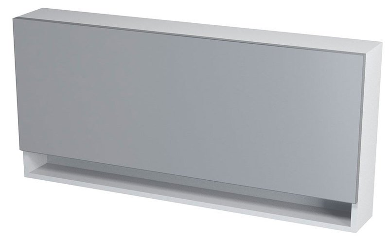 KLÁRA galerka s policí 115x54x18cm, bílá 56321
