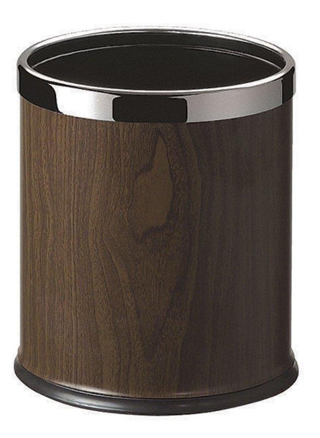 ROOM odpadkový koš, leštěná nerez / ořech DR186