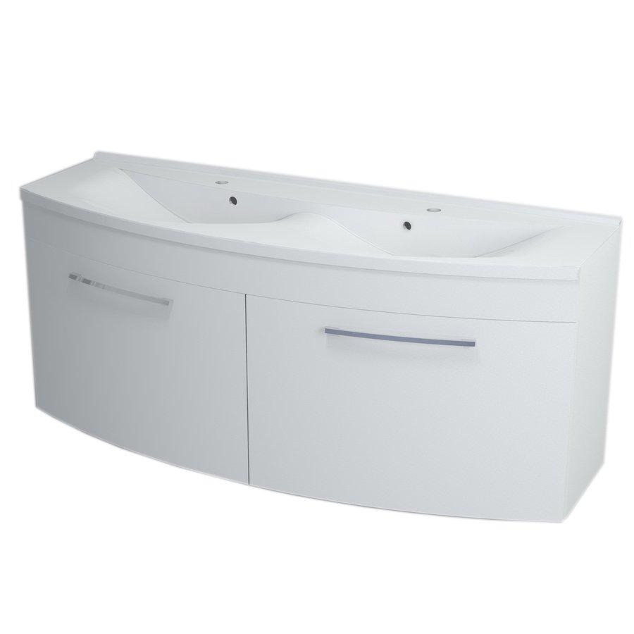 JULIE umyvadlová skříňka 150x60x50cm, bílá 59150