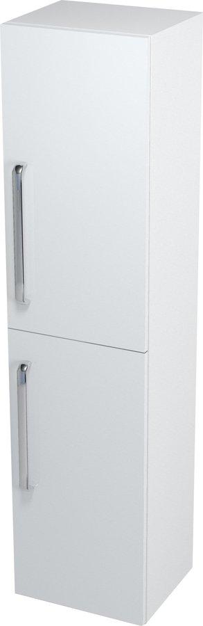 Skříňka vysoká s košem 35x140x30cm, bílá, pravá 62035P