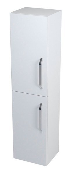 KALI vysoká skříňka s košem 35x140x30cm, levá, bílá 56142L