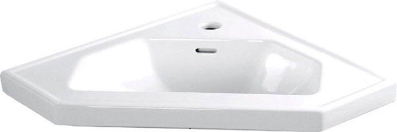 Keramické umyvadlo rohové 40x19x40cm, nábytkové 1601-40