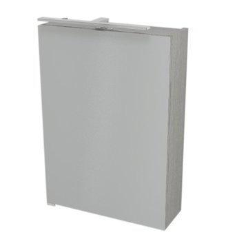 RIWA galerka s LED osvětlením, 50x70x17 cm, dub stříbrný RW054