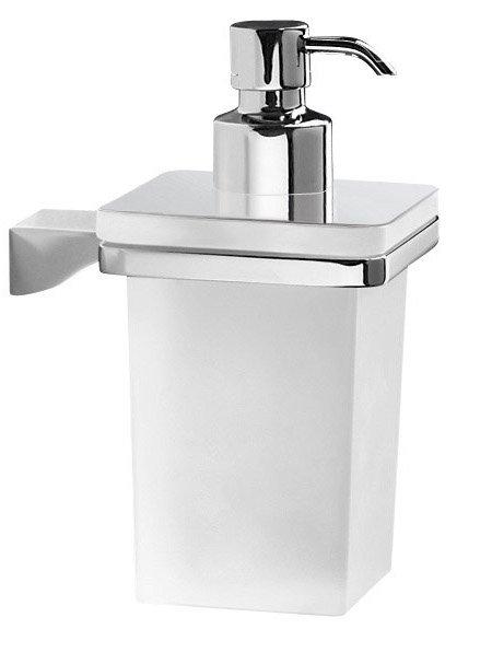 GLAMOUR dávkovač mýdla, chrom/sklo satin 5781