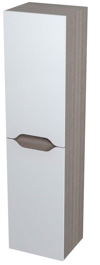 WAVE skříňka vysoká s košem 35x140x30cm, levá, bílá/maliwenge 51240L