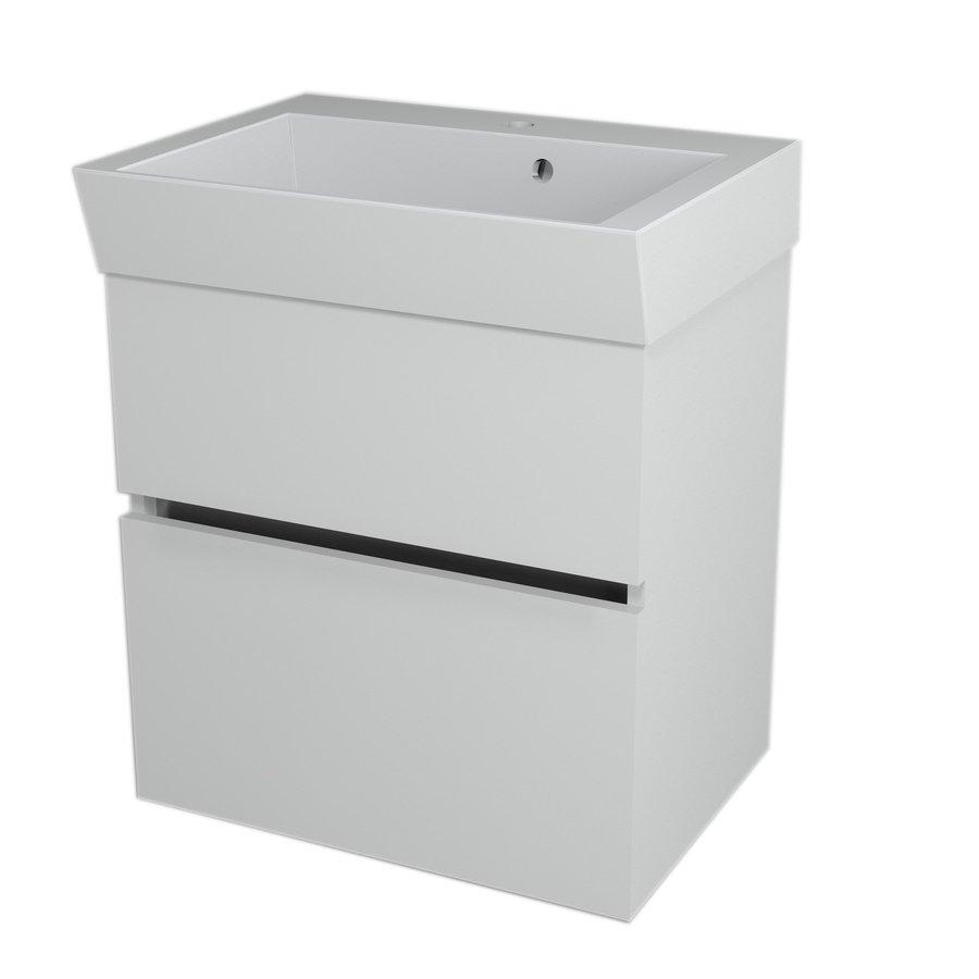 LARGO umyvadlová skříňka 59x60x41cm, bílá LA601