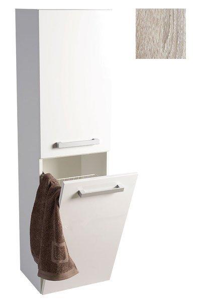 VEGA skříňka vysoká s košem, 40x150x31 cm, dub platin VG960