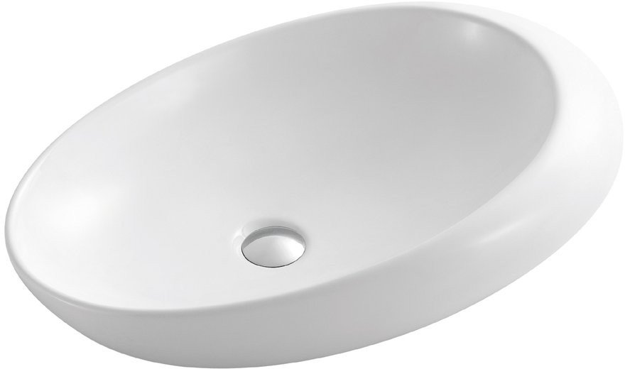 CARITA keramické umyvadlo 67x46x16,5 cm, na desku CR613