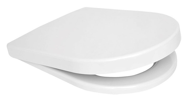 WC sedátko s horním uchycením, duroplast, bílá DP101