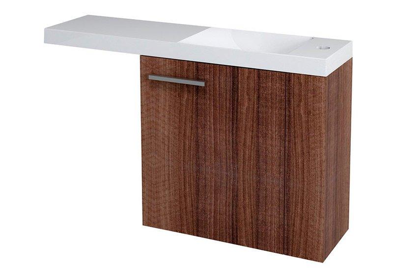 LATUS VI umyvadlová skříňka 50x50x22cm, pravá, ořech 55840