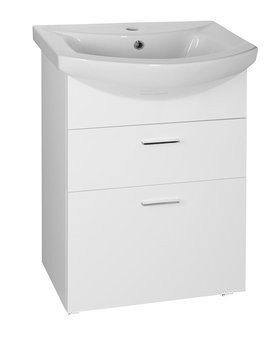ZOJA umyvadlová skříňka šuplíková 50,5x74x30 cm, bílá 51051