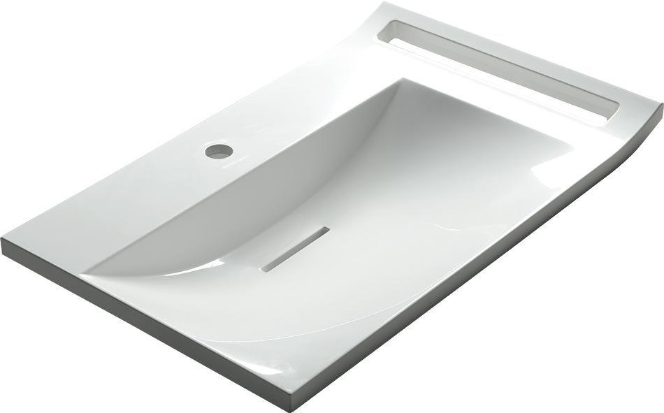 LUPO umyvadlo 72x45 cm, litý mramor, bílá LP072