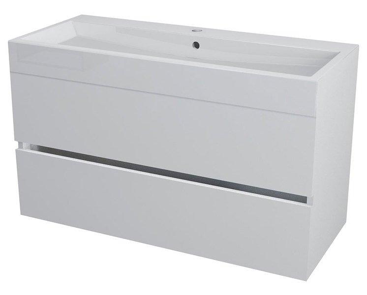 LARGO umyvadlová skříňka 99x50x41cm, bílá LA101