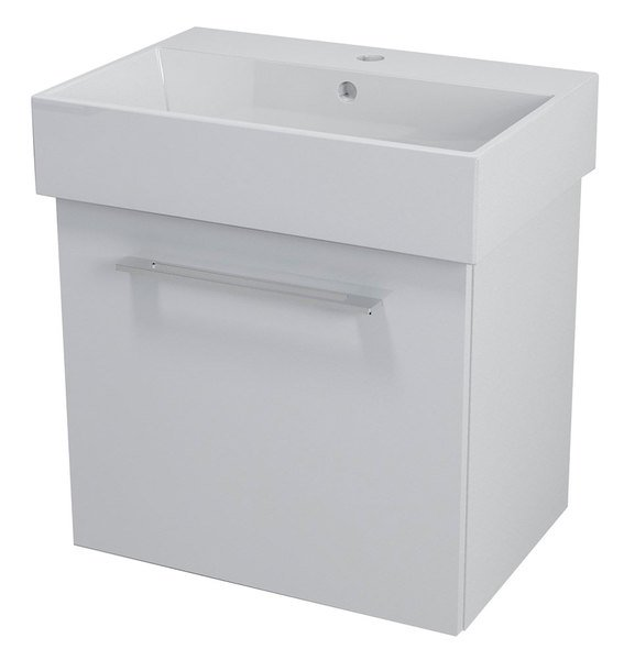NATY umyvadlová skříňka 56,5x50x40cm, bílá NA061