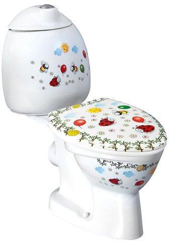 KID dětské WC kombi vč.nádržky, zadní odpad, barevný potisk CK311.400.0F