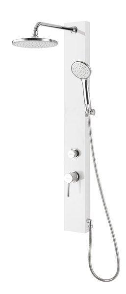 FIGA sprchový panel s baterií, 125x1050 mm, bílá SL230