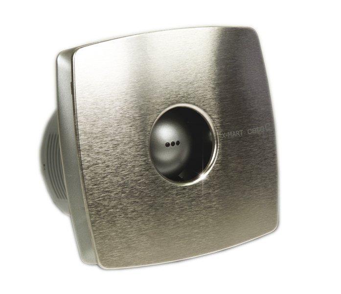 X-MART 10T koupelnový ventilátor axiální s časovačem, 15W, potrubí 100mm, nerez 1041000