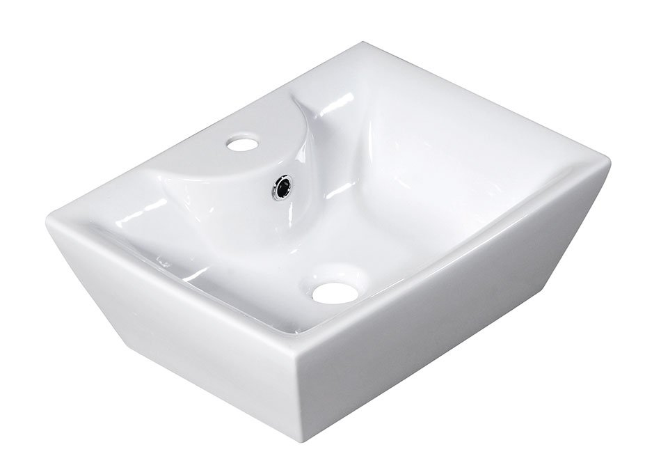 QUADRO PLUS keramické umyvadlo 49x17,5x38cm, na desku 25110301
