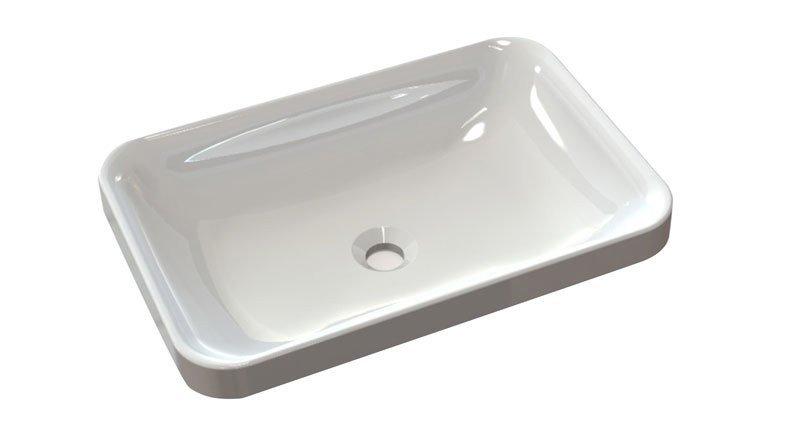 ASTORIA umyvadlo 55x37 cm, litý mramor, bílá 55033