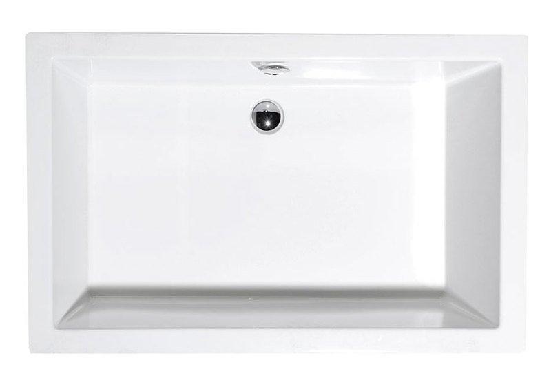 DEEP 110x90 hluboká sprchová vanička 110x90x26cm, bílá s podstavcem 72363