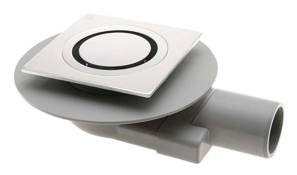 TIRANA podlahová vpusť boční 100x100 mm, odpad 50mm, chrom 2665.295.8
